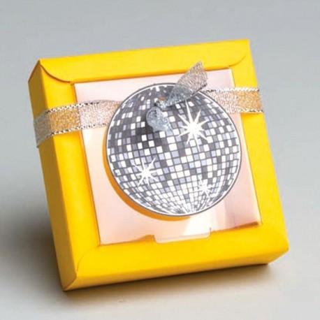Contenant à dragées Disco jaune