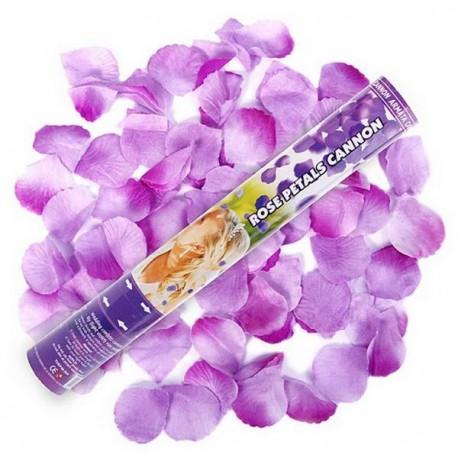 Canon à conféttis pétales de rose lilas