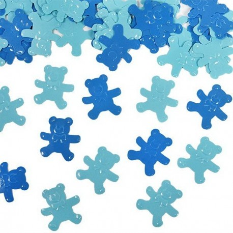 Confettis petit oursons bleu