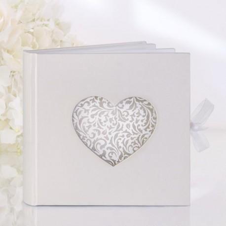 Livre d'or mariage coeur ajouré