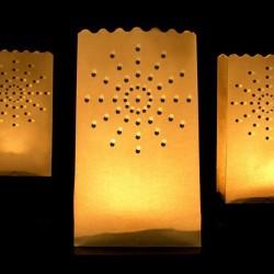 Lanterne photophore soleil X 10