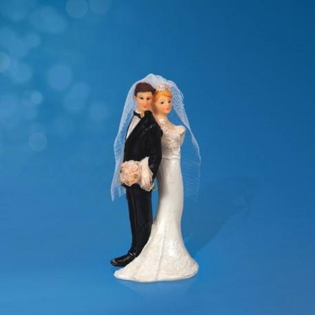 Figurine gâteau de mariage dos à dos