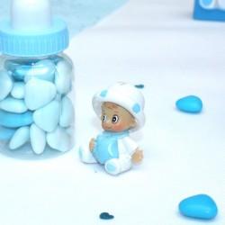 Sujet céramique bébé bleu