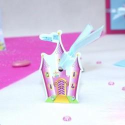 4 Etiquettes à dragées chateau de princesse