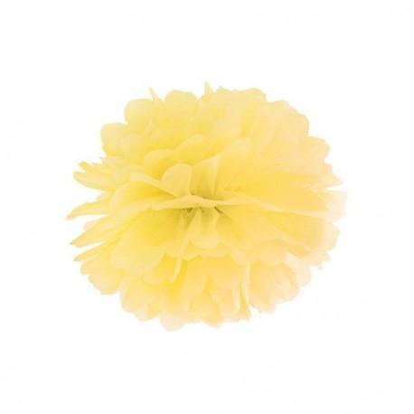 Pompon jaune 25 cm