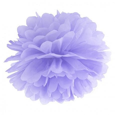 Pompon lilas 35 cm