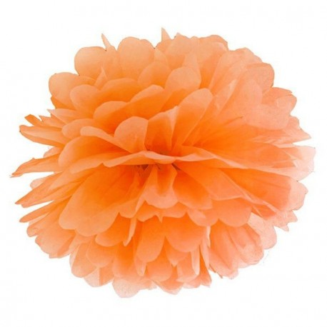 Pompon orange 35 cm