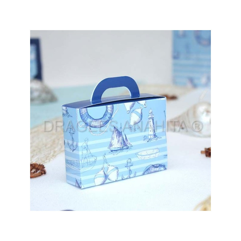 valise drages thme marin - Valise Dragees Mariage