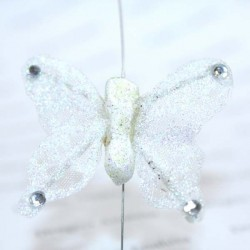 Papillon ivoire pailleté