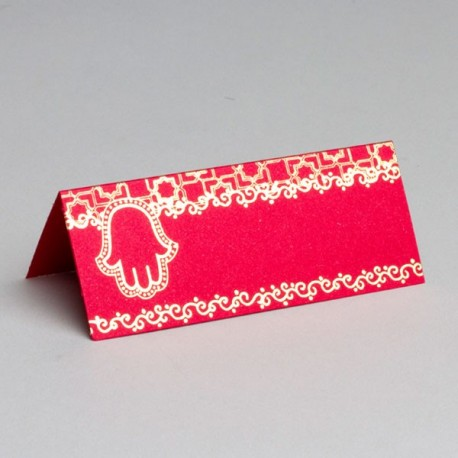 Marque place mariage Oriental Rouge