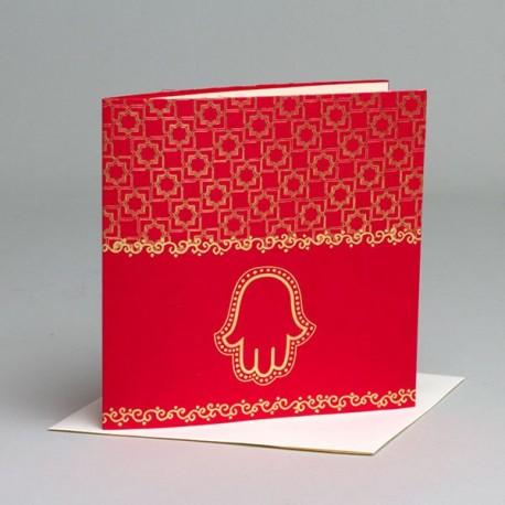 Faire part Mariage Oriental rouge