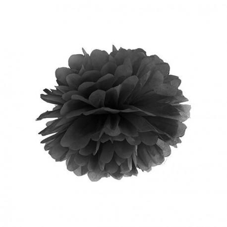 Pompon noir 25 cm