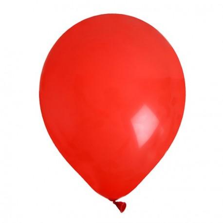 8 Ballons de baudruche rouge 25 cm