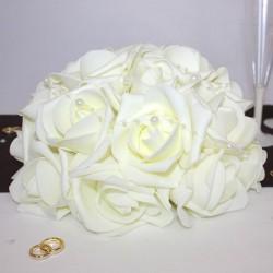 Bouquet de fleurs centre de table ivoire GM