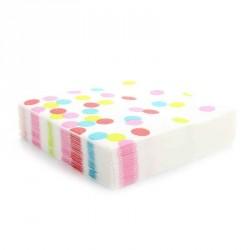 20 Serviettes gros pois 3 plis multicolore