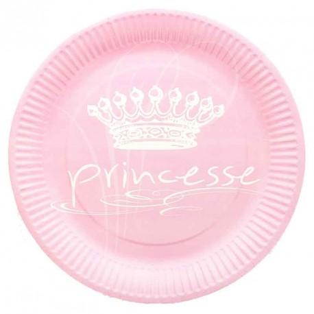 Assiette PRINCESSE en carton X10