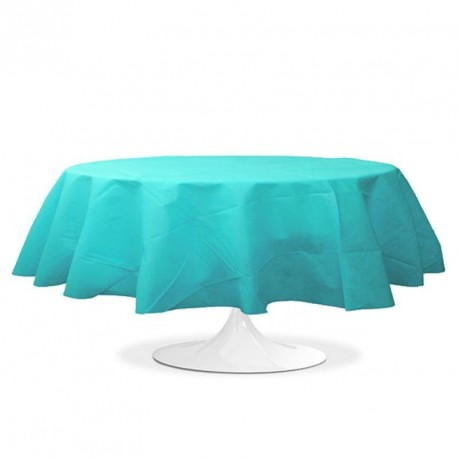nappe ronde mariage turquoise pas cher