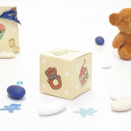 Petite boîte à dragées jouet bébé