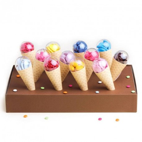 Kit cornet glace 12 pi ces pour d coration de candy bar for Decoration glace