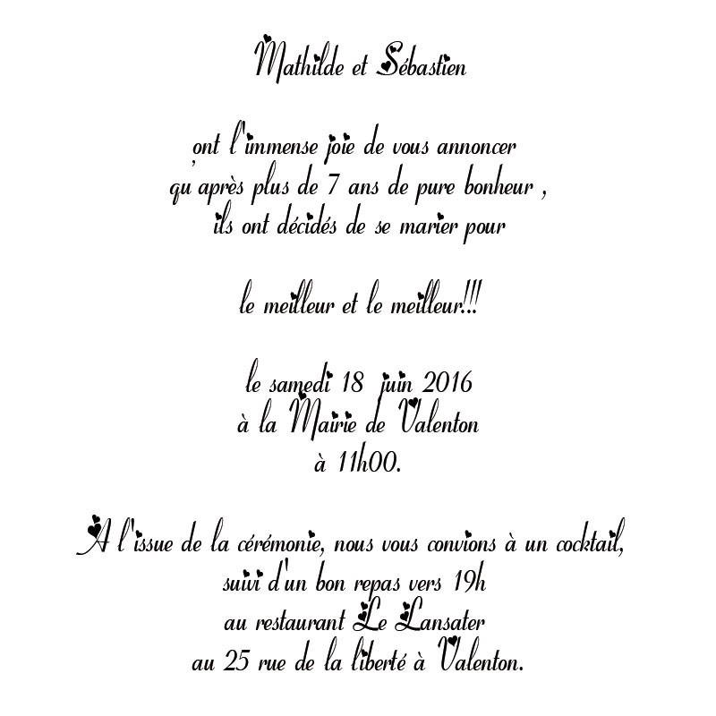Texte invitation repas mariage theme papillon