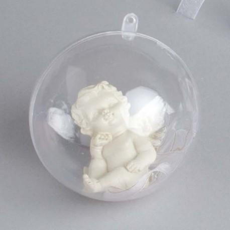 Boule à dragées transparente 8 cm