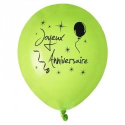 8 Ballons gonflables Anniversaire vert