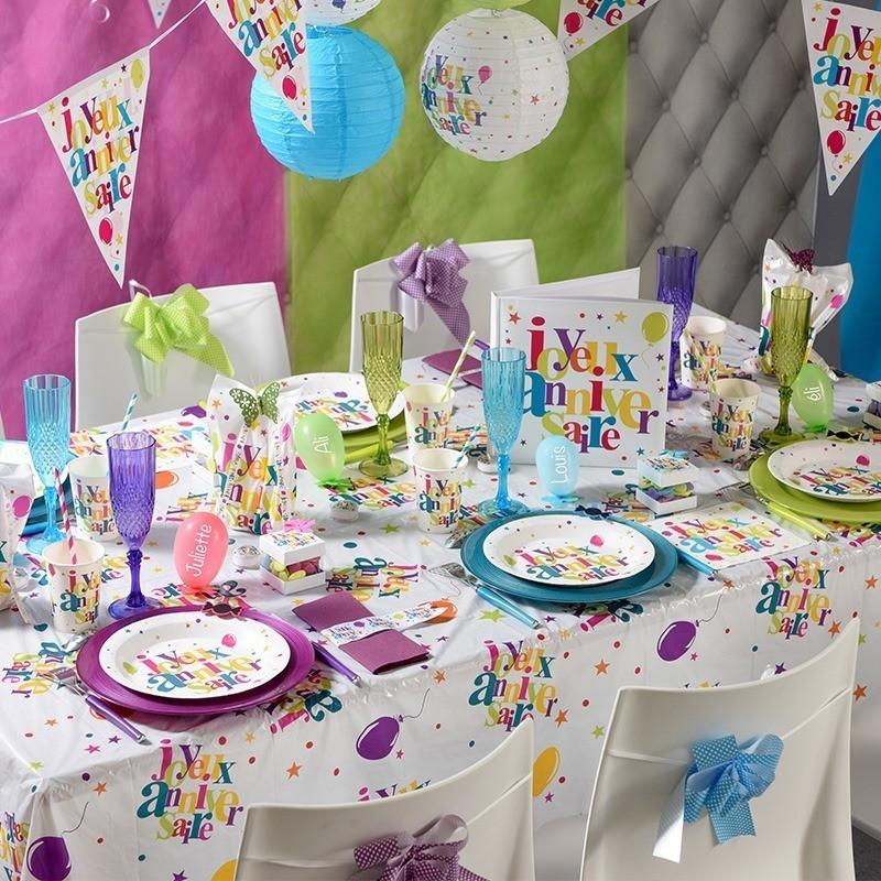 nappe rectangulaire multicolore anniversaire drag es anahita. Black Bedroom Furniture Sets. Home Design Ideas