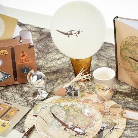 8 Ballons gonflables thème voyage